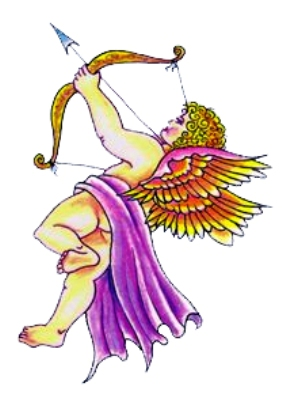 Here is a tattoo design for those who like cupid and angel tattoos.