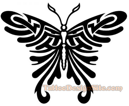 tribal tattoos will be delighted to see this tribal butterfly design
