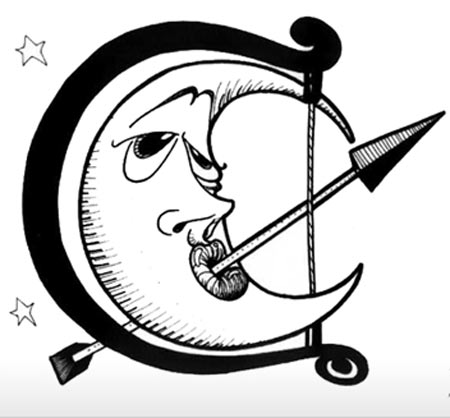 Here is a funny moon tattoo design for all those who love star tattoos.