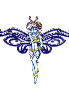 Blue Fairy Tattoo