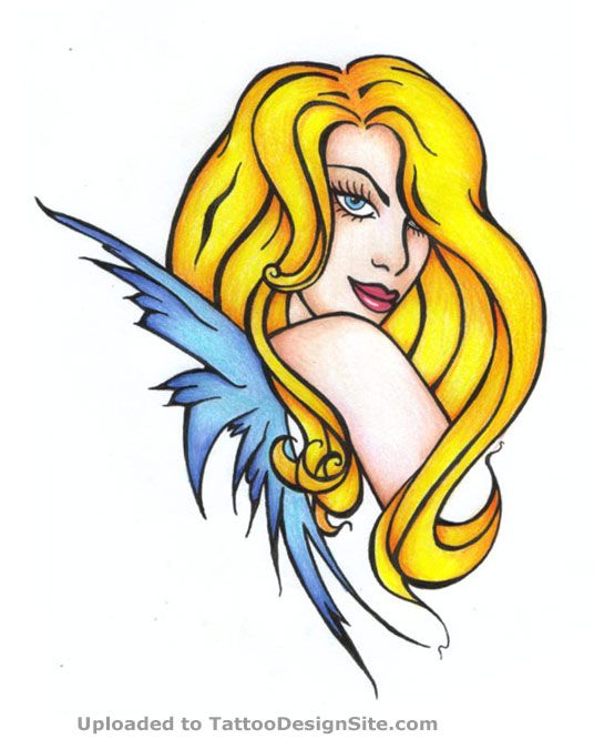 Blond Fairy Tattoo Design